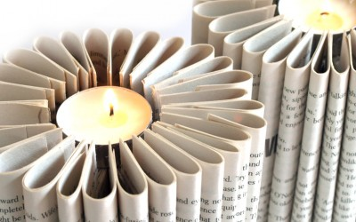 Book Paper Candles