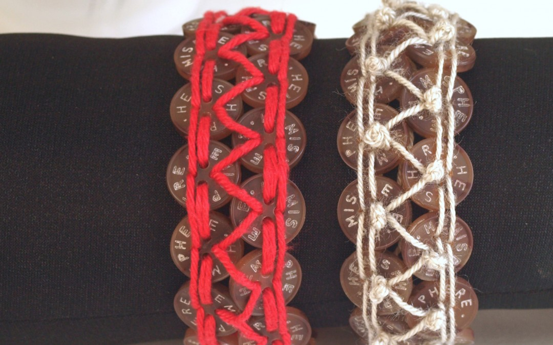Button and Thread Bracelets