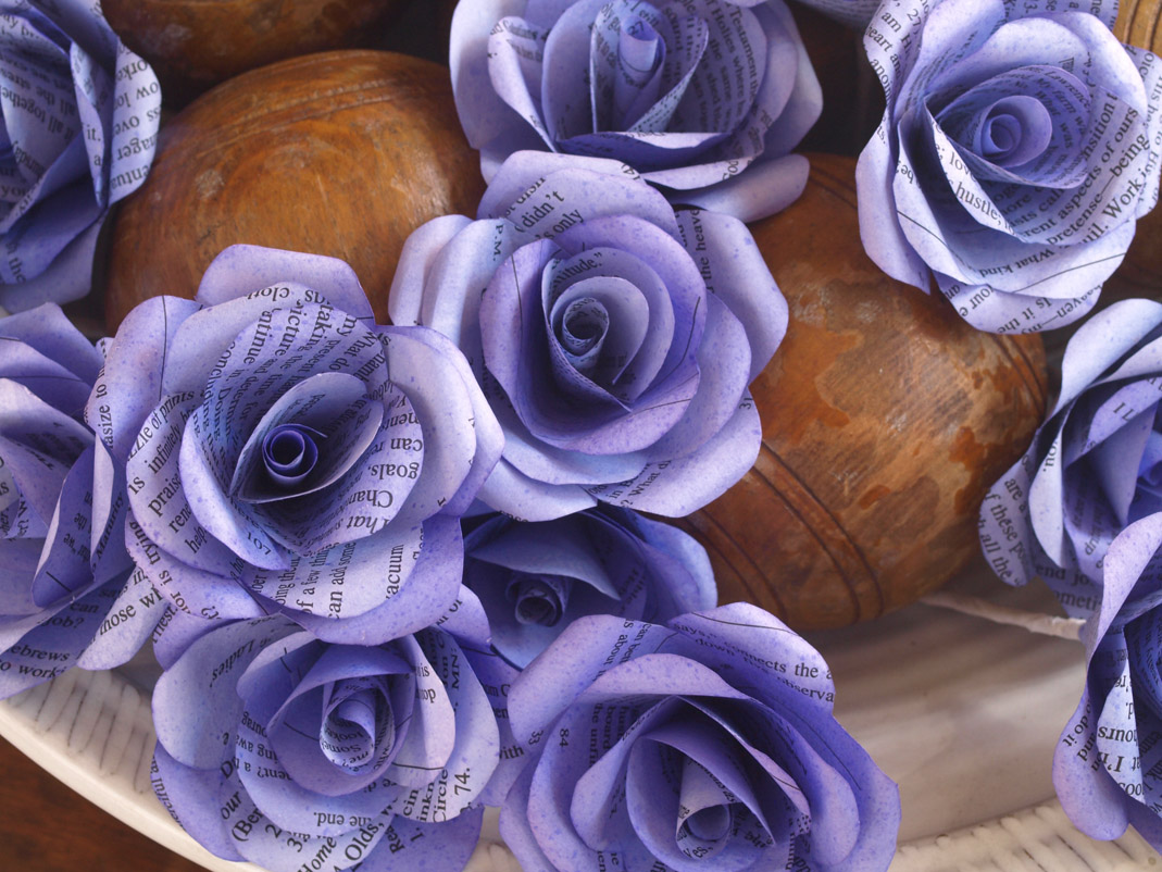 Paper Roses Crafted From Recycled Or New Papers For Decor Or Events