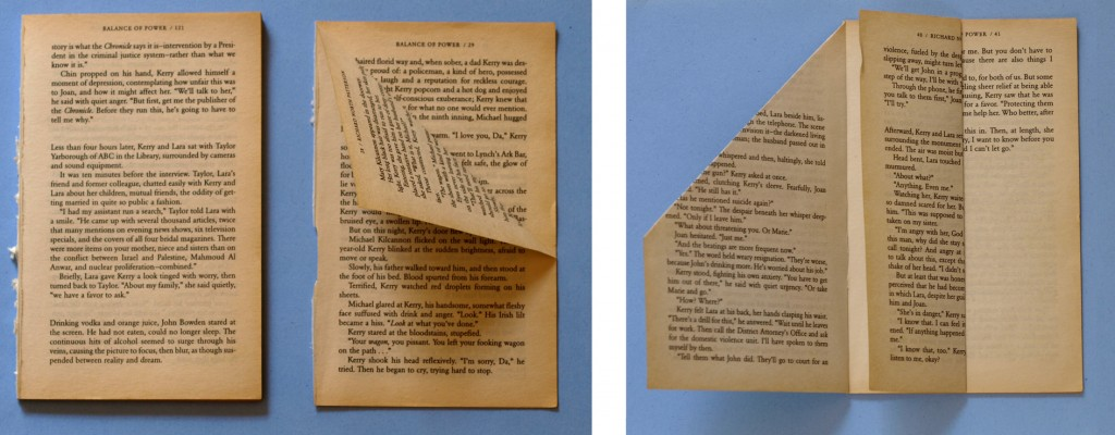 Instructions on How to Fold a Book Art Vase