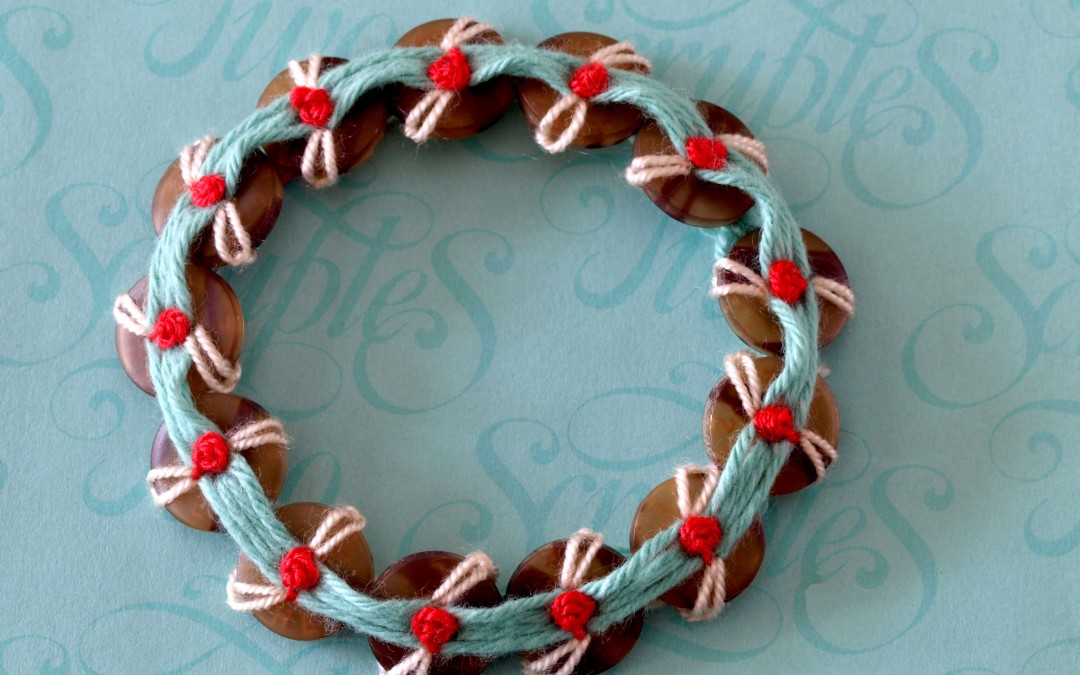 Button and Thread Bracelets –