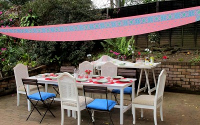 Sari Tarpaulin – Simple Event Decor Idea