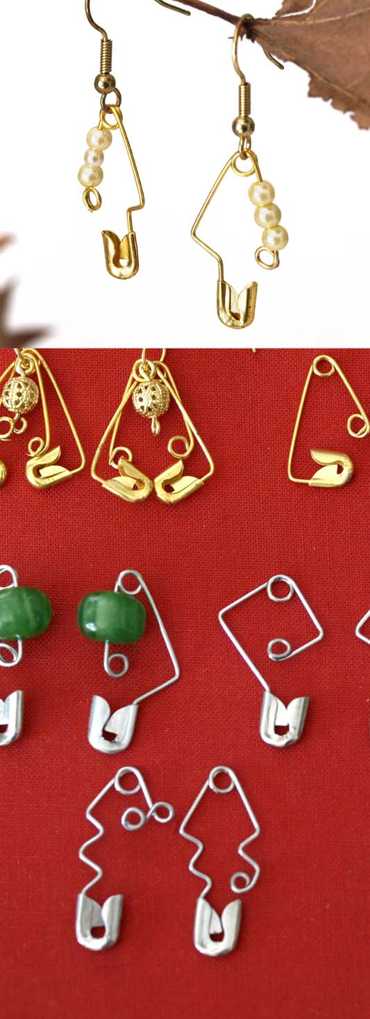 Safety Pin Jewellery - Earrings
