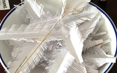 Paper Feathers [and Hearts]