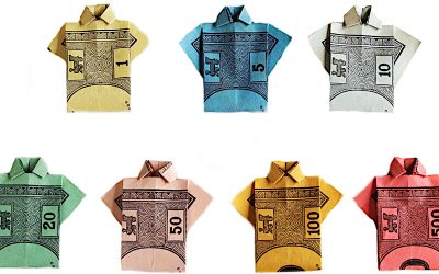 Monopoly Money Origami –  Shirts from Cash!