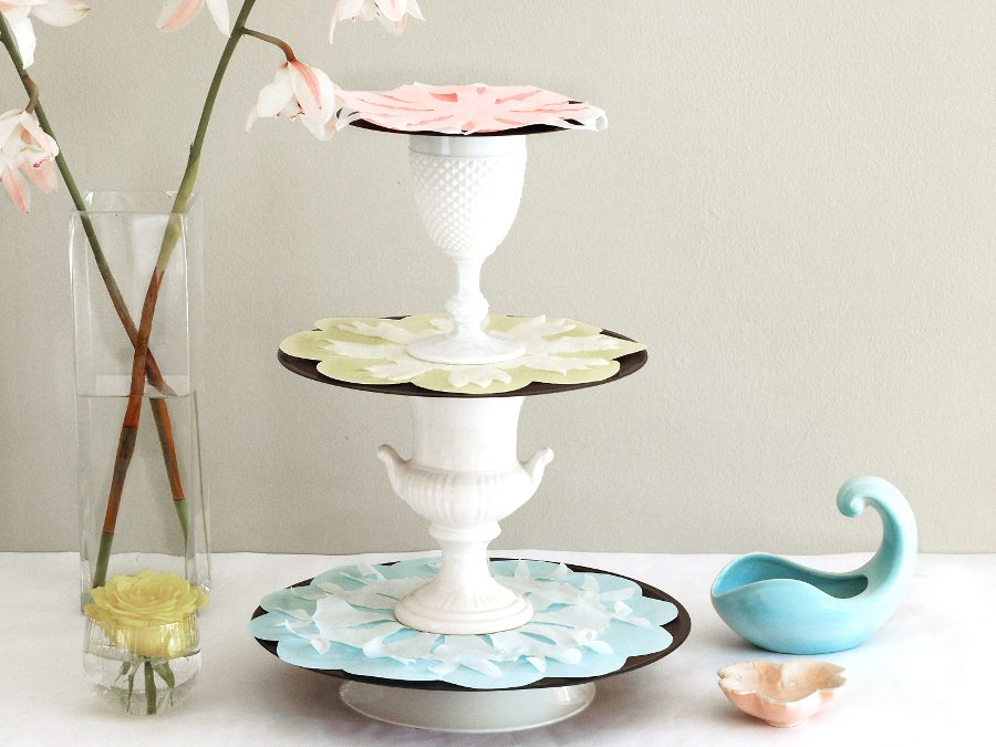 Vinyl Record Craft – Quick Cake Stand Tut