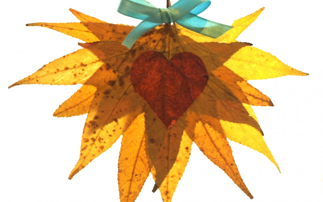 Autumn Leaf Craft – Heart Leaf Heart