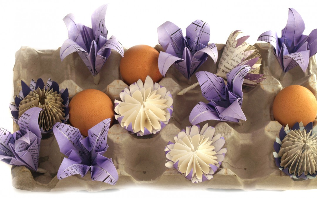 Lilac coloured origami lilies