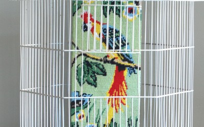 Recycled Tapestry – FOUND! Tropical Parrot