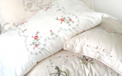 Vintage Linen Recycled-  Pillow Covers DIY