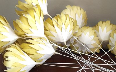 Mild Mustard Coloured Paper Protea Order