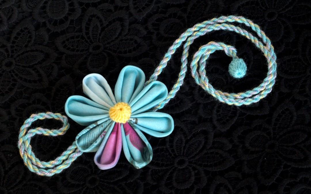 Kanzashi Necklace – Flower Jewellery