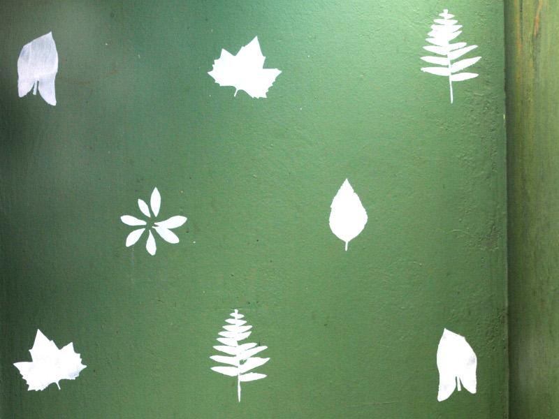 Leaf Stencil Garden Wall