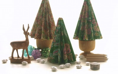 Fabric Christmas Trees -Cotton Print