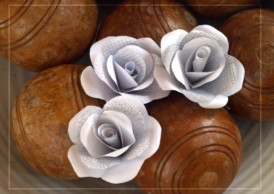 Grey and white roses