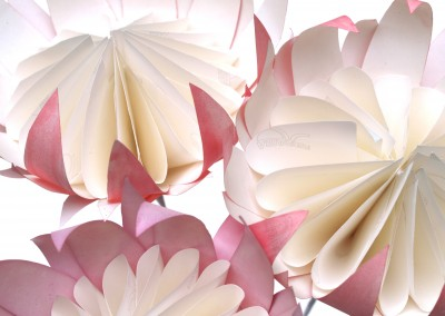 Pink and White - Dyed and painted
