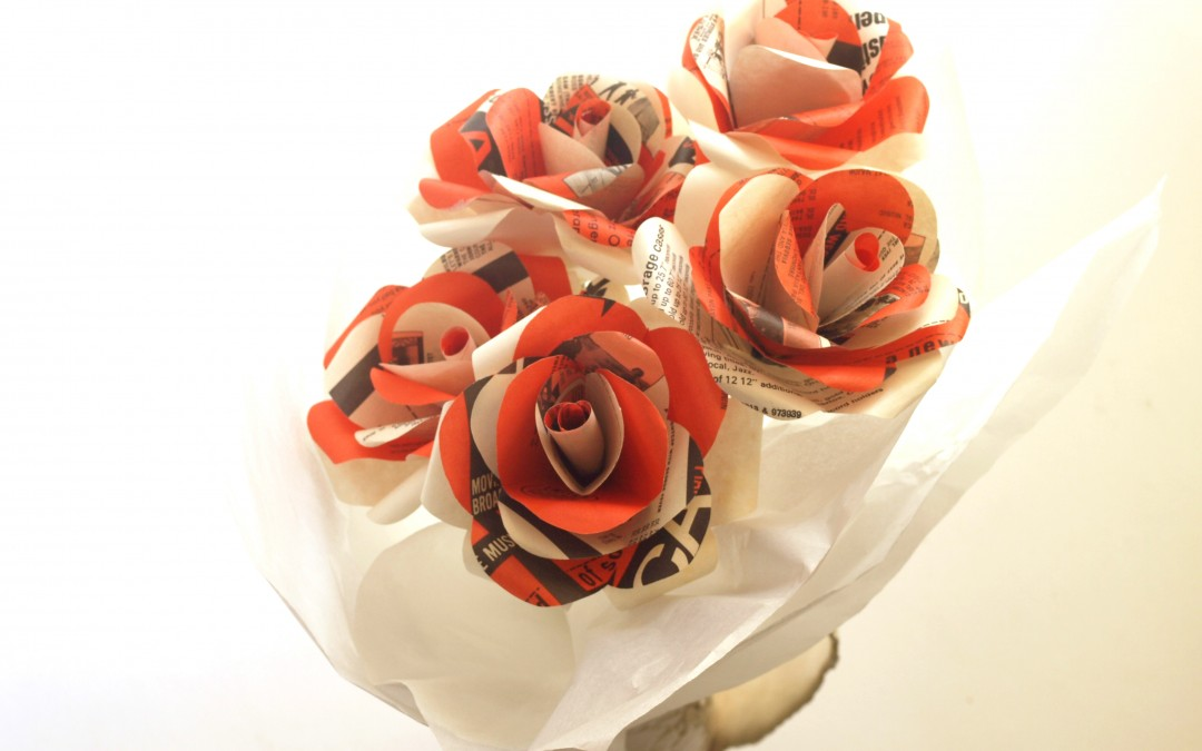Paper Roses – Flowers for a Lady