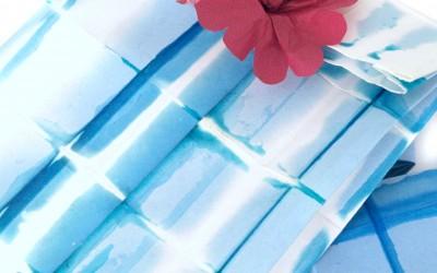Paper Shibori Plaid