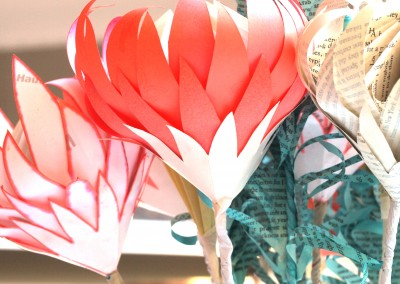 Recyled paper proteas