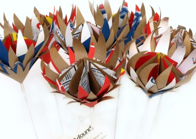 Recycled Paper Proteas