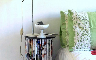 Book Art Furniture – Tables and Pillows