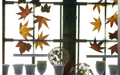 Autumn Leaf Art – Paper Light Panels