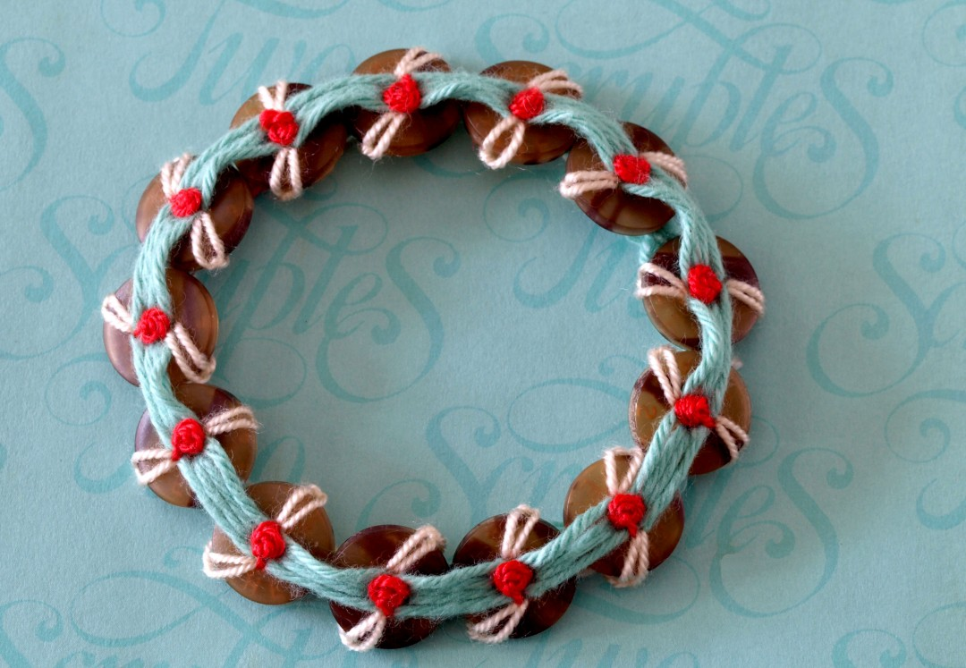 French Knot Flower Bracelet