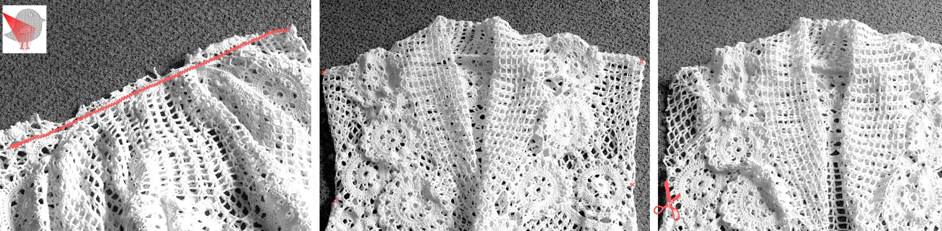 Crochet Tablecloth Waistcoat