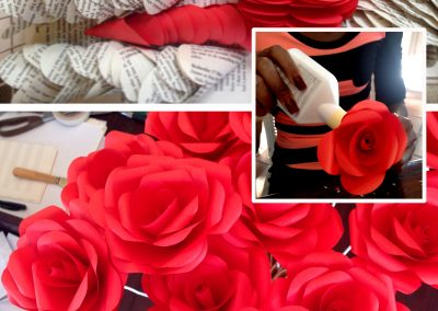 Paper Rose Construction