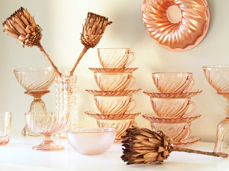 Collecting – Rose Gold Glass with Copper
