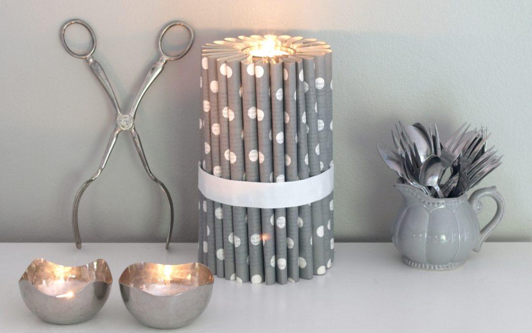 book fold candle tea light holder diy paper craft bibliogami. Black Bedroom Furniture Sets. Home Design Ideas