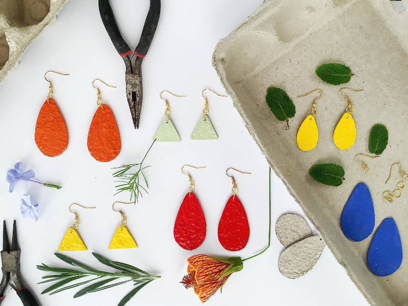 Egg Box Earrings – Exploring the Possibilities of Paper