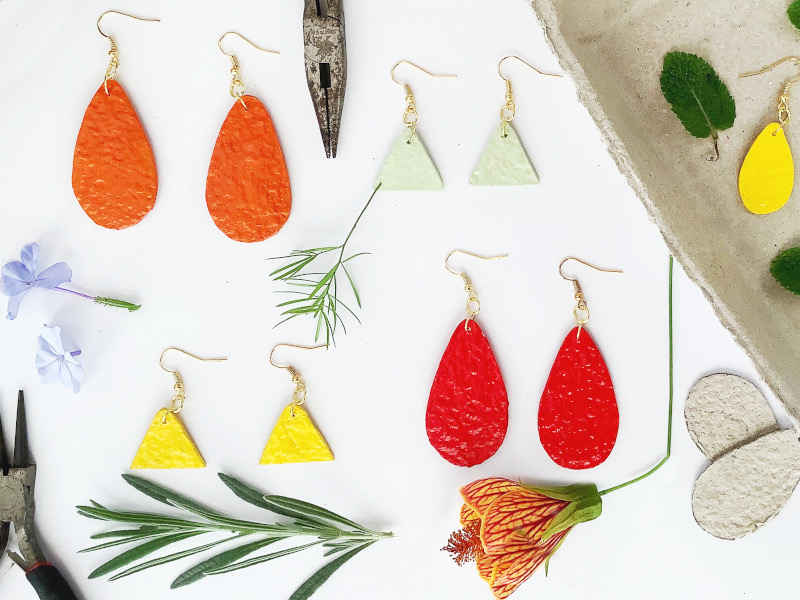 Paper Pulp Jewellery Craft – Exciting Earrings