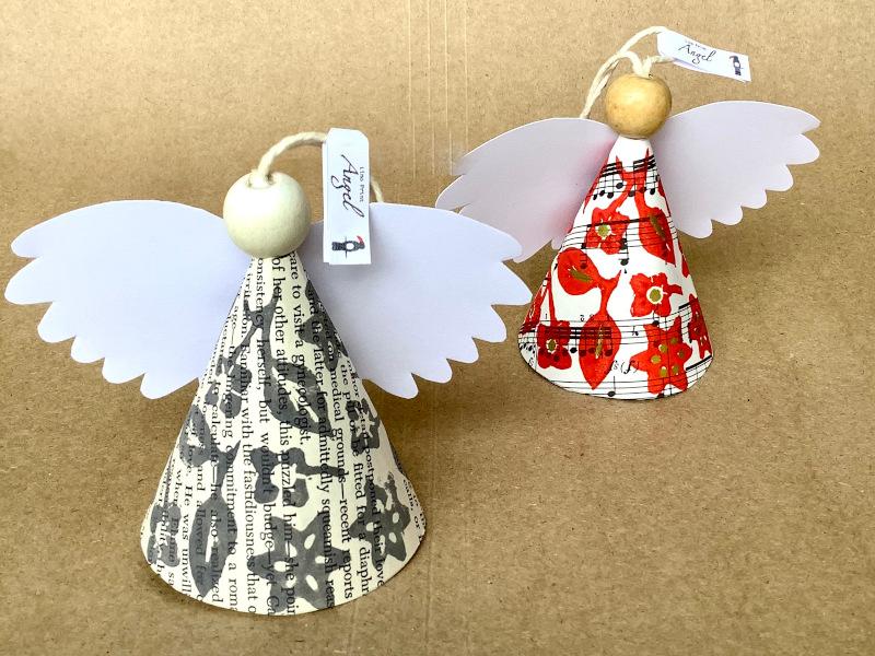 Linocut Angels