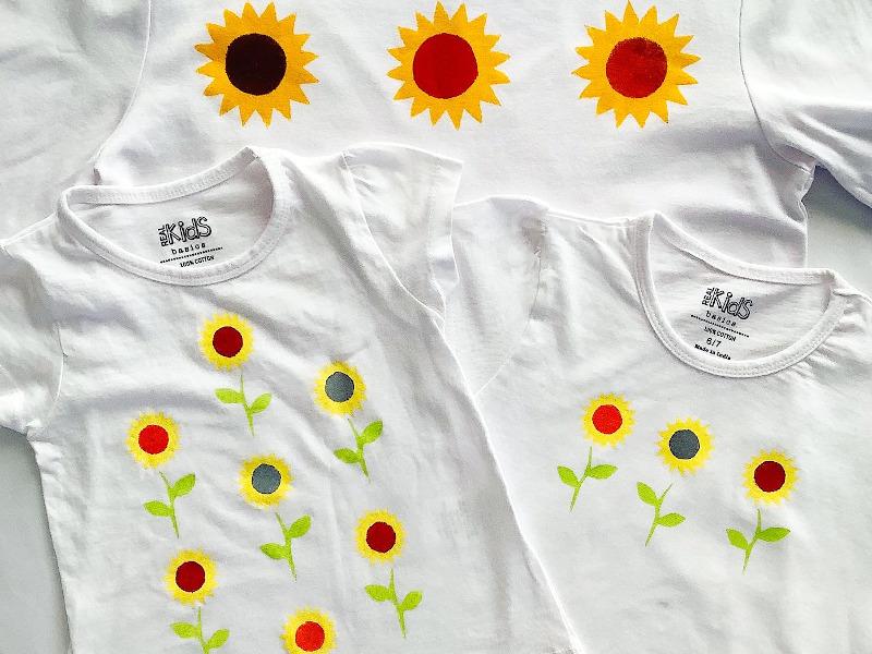 Sunflower Stencil Print