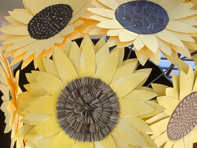 Paper Sunflowers – Create A Bowl of Sunshine