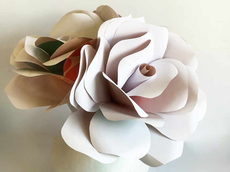 Giant Paper Rose – Recycled Posters for Bridal or Decor