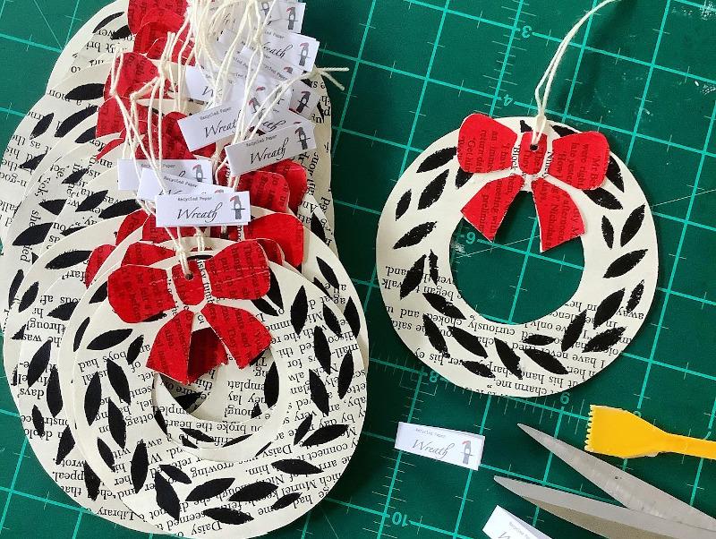 Print Christmas Wreath