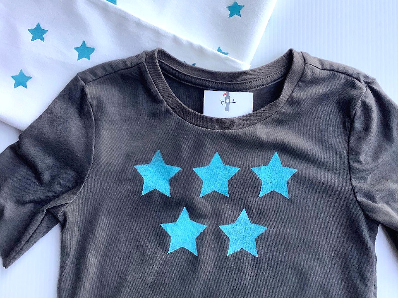 Star Stencil Print – Fun T-shirt Pattern for Kids