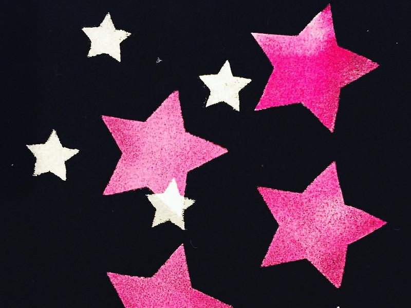 star stencil print