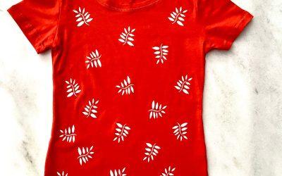 Leaf Print – Simple Stylish Stencil Pattern